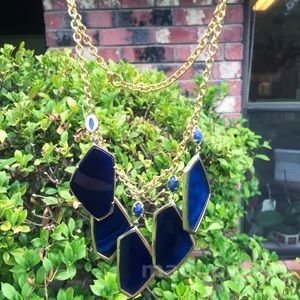 Vintage Blue Agate Kendra Scott Necklace